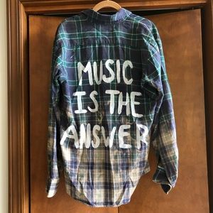 One of a kind flannel button down shirt
